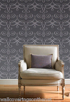 Stunning, Purplish Grey, Solid Vinyl Featurewall Wallpaper (Paste the Wall)
