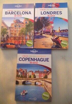 Guia Lonely Planet De Cerca Copenhague 2015 +Barcelona 2017 + Londres 2016