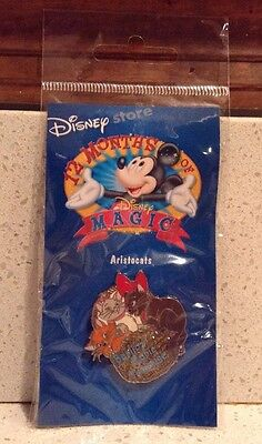 Aristocats Pin 12 Months of Magic Disney Store NEW Berlioz Marie Toulouse