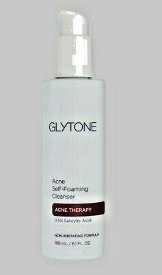 GLYTONE Acne Self Foaming Cleanser: BRAND NEW: SEALED AND FRESH 6.1oz $40 Retail