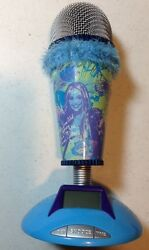 Hannah Montana Microphone Alarm Clock Real Working Mic fur Trim Disney