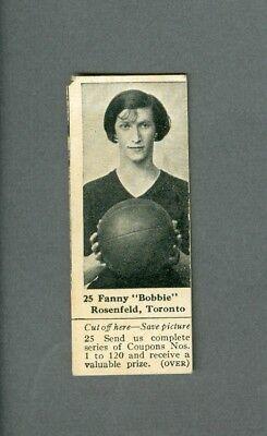 vintage 1925 Dominion Chocolates Women Basketball FANNY BOBBIE ROSENFELD w/tab (Basketball Chocolates)