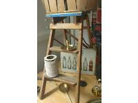 Ladders wooden vintage small