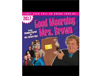 Three live Mrs brown boys tickets for sale