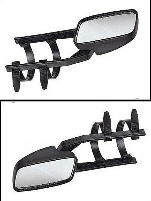 1 Caravanspiegel, Wohnwagenspiegel, Aufsetzspiegel, f. Pkw, universal verwendbar