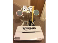 Rock band drum set and guitar wii