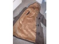 70% wool fur lined duffle coat size 6-8
