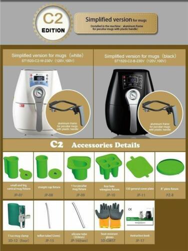 Heat Press 3D Vacuum Mini ST-1520 Sublimation Oven Machine for Heat Transfer 1