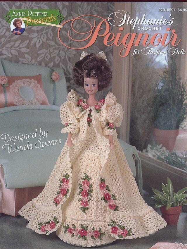 Blushing Bride Dress fits Barbie Doll Crochet Pattern//Instructions Leaflet NEW