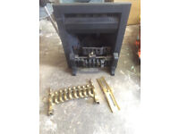 Gas fire and bits