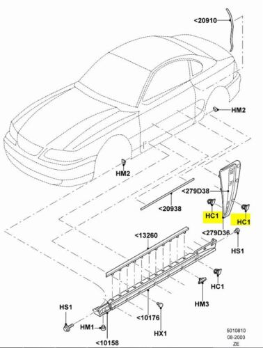 ford oem 99 04 mustang quarter panel scoop clip w709766s300 ebay 67 Mercury Convertible seller payment information