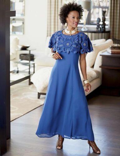 plus size 24W Royal Raziya Maxi Dress from Ashro new