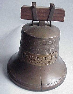 Antique Liberty Bell Savings Bank Fort Ft Wayne In
