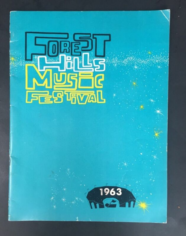 Forest Hills Music Festival 1963 Program joan Baez Ray Charles Ella nm rare