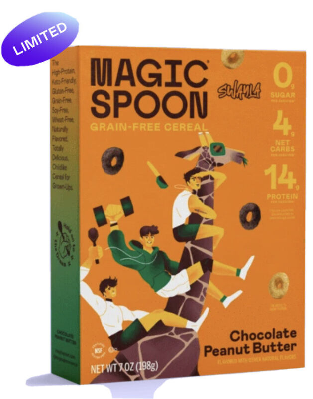 LIMITED EDITION MAGIC SPOON SWAYLA KETO FRIENDLY CHOCOLATE PEANUT BUTTER CEREAL