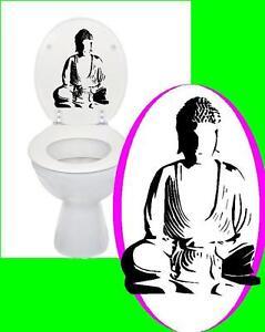buddha nr1 toiletten deckel spruch toilette klo wc bad aufkleber sticker ebay. Black Bedroom Furniture Sets. Home Design Ideas