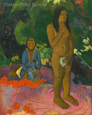 Words of the Devil by Paul Gauguin - Woman Nude Girl Tahiti Tree 8x10 Print 1381