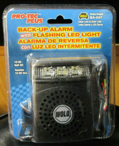 Wolo Pro-Tec Plus (BA-697) - Back-Up Alarm W/ Flashling Led Light