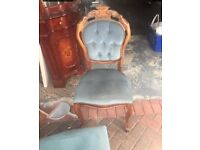 Mahogany Louis dining table 6chairs and sideboard shabby chic project