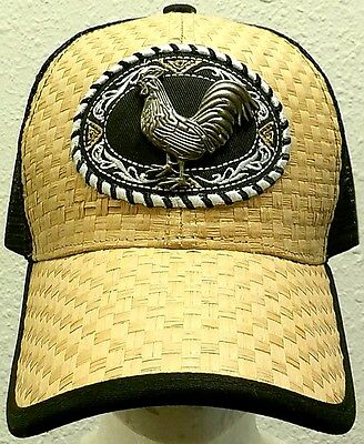 FOWL ROOSTER CHICKEN COCK FARM GAME AMERICAN MEXICO MEXICAN TRUCKER MESH CAP - Chicken Hat
