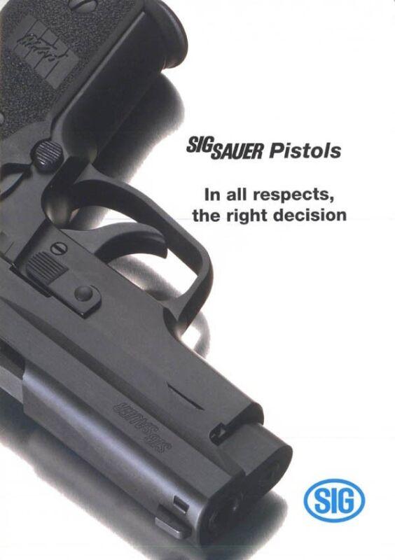 Sig Sauer 1993 Pistol Catalog