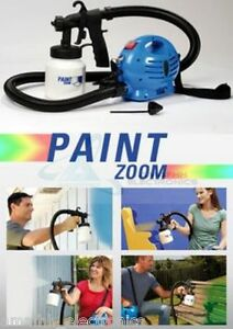 new as seen on tv paint zoom professional electrical spray gun. Black Bedroom Furniture Sets. Home Design Ideas
