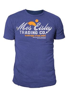 Star Wars - Retro Herren Logo T-Shirt - Mos Eisley Trading & Co (Navy) (S-XL)