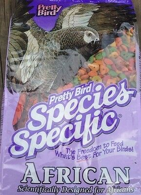 PRETTY BIRD African Specific PELLETS African Grey parrot bird food diet 8lb