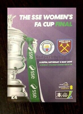 2019 Women's Fa Cup Final Manchester Man City v West Ham United Utd May 04/05/19 for sale  Shipping to United States