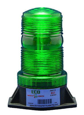BS1AC 85-265VAC GREEN STROBE XENON EMERGENCY WARNING BEACON w/VOLTAGE STABILIZER for sale  Shipping to India