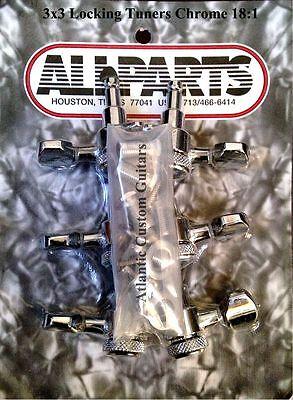 - Allparts 3x3 Chrome LOCKING TUNERS 18:1 TK-7576-010
