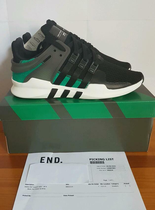 Adidas Eqt Adv Black Sub Green
