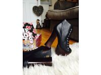 Jeffrey Campbell Gotham Black Leather Boots Brand New With a Box Size UK 5 EU 38 RRP £185