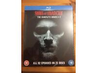 Sons of Anarchy - Seasons 1 - 7 Bluray Brand spanking new/Postage included!