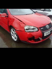 GOLF GTI MK5 Damaged Repairable Parts Included