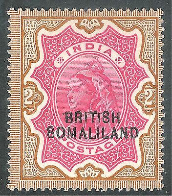 Somaliland 1903 carmine/yellow-brown 2r overprint at bottom mint SG22