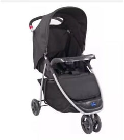 BABYSTART DELUXE 3 WHEEL LIFT UP PUSHCHAIR STROLLER + RAIN COVER NEW