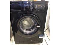 BEKO 6kg black washing machine 1300 spin £100 good condition