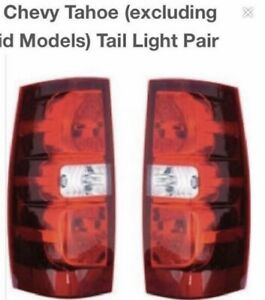 2013 Chevy Tahoe tail lights. Like new