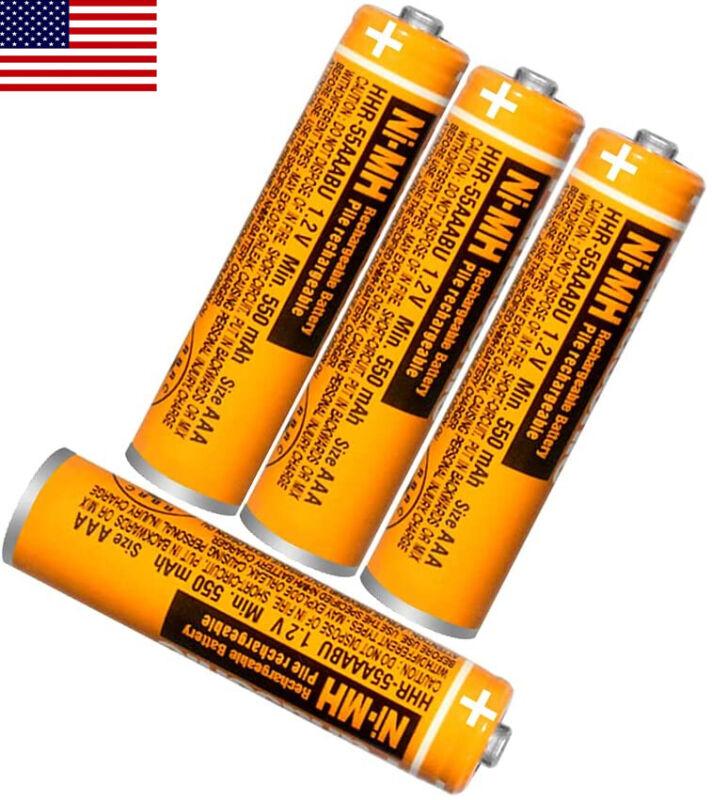 Panasonic HHR-55AAABU AAA NI-MH Rechargeable Battery 550mAh for Cordless Phones