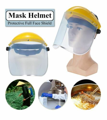 Anti-Saliva Dust Proof Transparent PVC Safety Faces Cover Screen Helmet