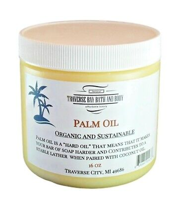 Palm Oil 16 fl oz, Organic, Soap making supplies, Sustainable, DIY projects.