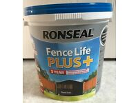 Ronseal Fence Life PLUS 5 year protection - Dark Oak - 9L containers