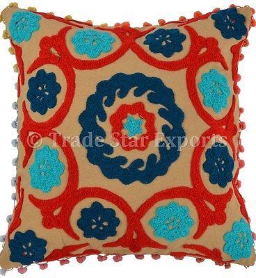 Подушка Suzani Embroidered Pillows Indian Decorative