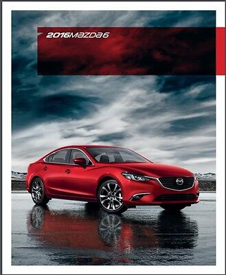 2016 Mazda 6 Mazda6 46-page Original Car Sales Brochure Catalog