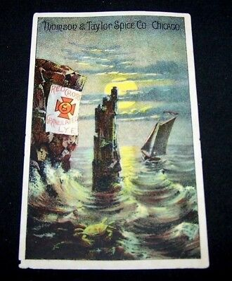 EARLY 1900'S TRADE CARD-RED CROSS LYE-THOMSON & TAYLOR SPICE CO-CHICAGO-SOAP-#2