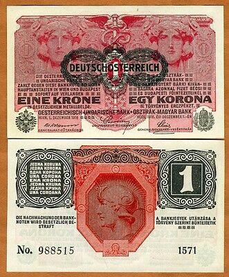 Austria, 1 Korona, 1916 (1919), P-49, UNC
