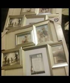 5 picture metallic photo frame