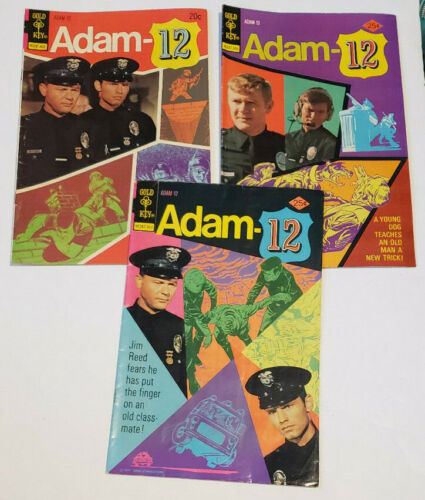 Adam-12 Comic Book 2 6 7 February 1974 March May 1975 Gold Key