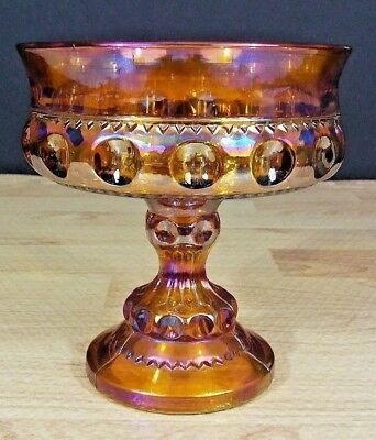 Indiana Kings Crown Thumbprint Wedding Bowl Iridescent Gold - Gold Kings Crown